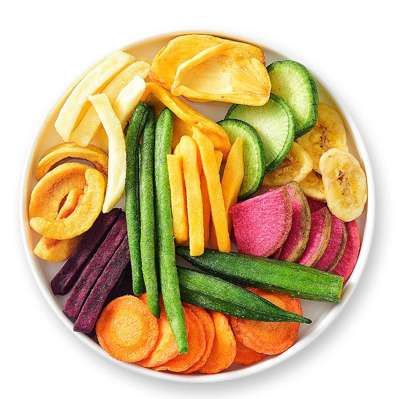 俏美味什锦果蔬脆综合果蔬脆片混合装水果儿童孕妇零食蔬菜干500g