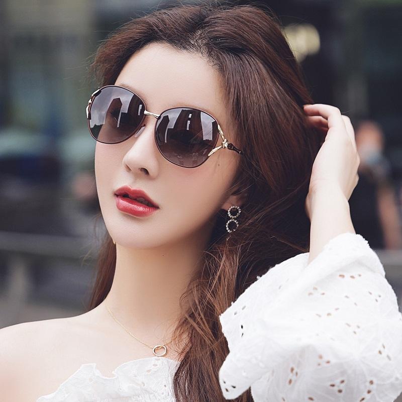 太阳镜女2021年新款夏季大脸大框偏光眼镜防紫外线墨镜圆长脸女潮