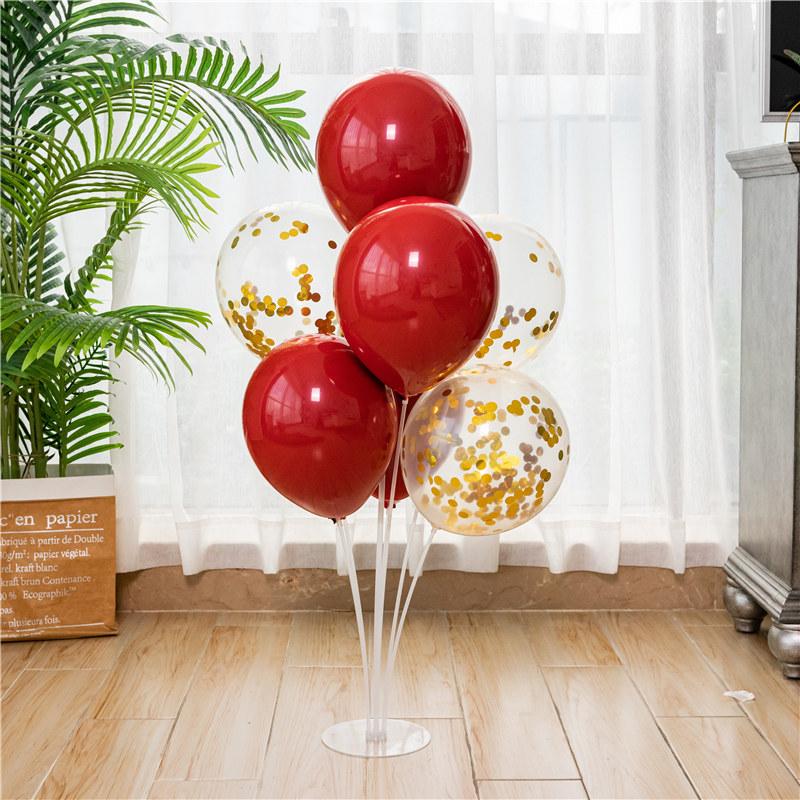 气球圣诞桌飘支架立柱地飘结婚房场景装饰订婚生日布置路引托杆