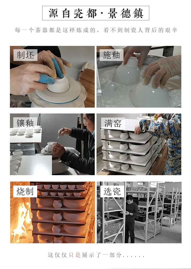 Jingdezhen up the fire which high - grade checking ceramic cups sample tea cup single CPU hand - made pastel kung fu tea set