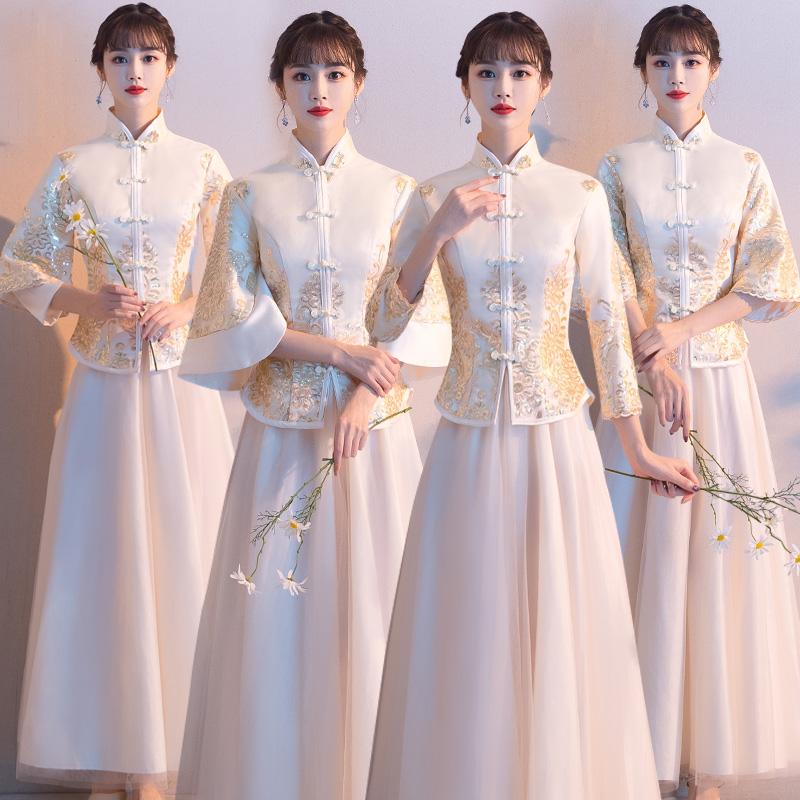 Китайское креативное платье невесты 2020 новая коллекция Весенняя фея прогрессивный Платье подружки невесты Группа подружек невесты в китайском стиле
