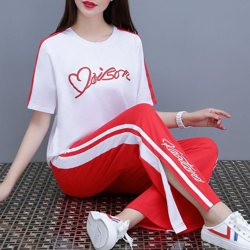 肯珂圣【两件套】网红法式小众运动套装