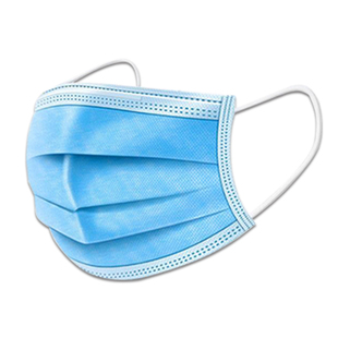 [medical mask] 10 three layer melted spray cloth adult medical mask