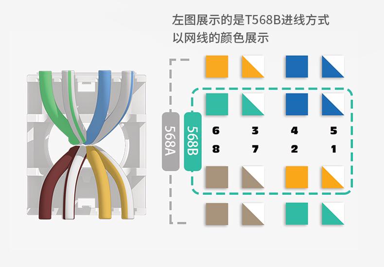 网络模块,RJ45模块,短款模块