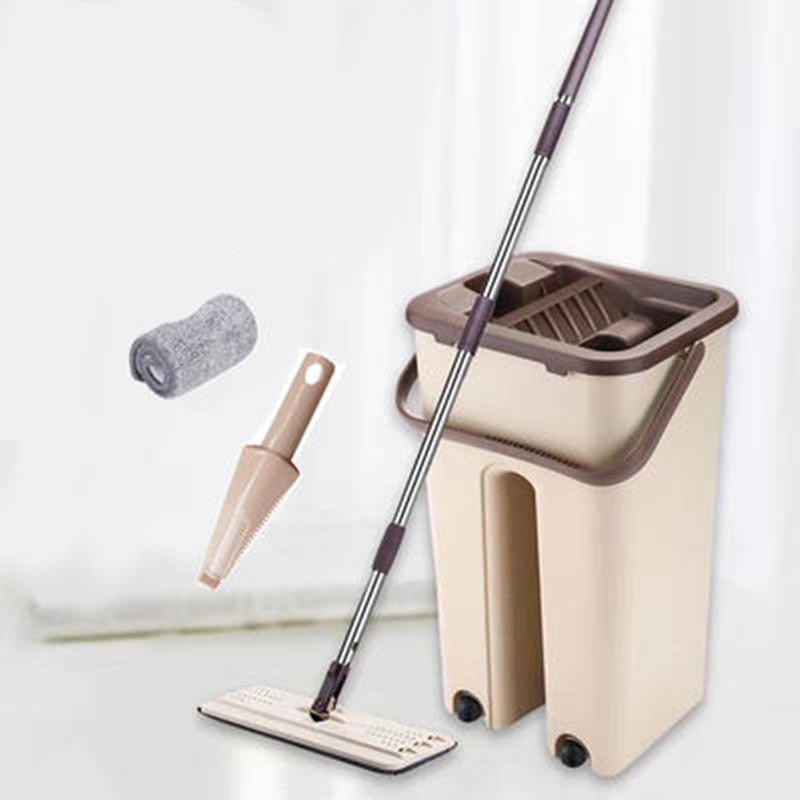 免手洗抖音拖把家用刮刮乐拖把桶