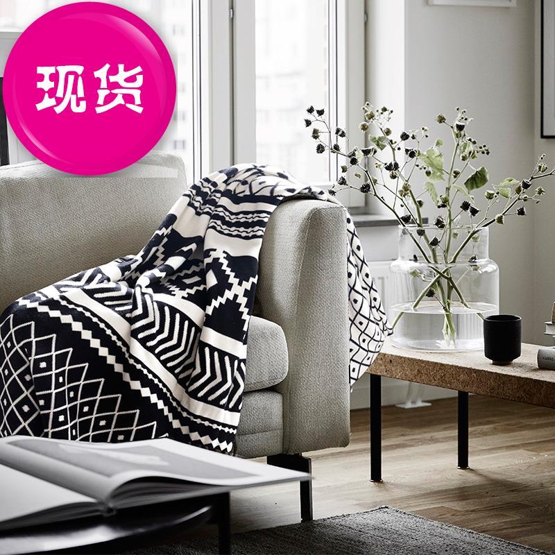Bắc Âu ins nap cover chăn đen và trắng trang trí chăn chăn trống 13 điều chỉnh chăn dệt chăn sofa giải trí chăn giường và bữa ăn sáng - Ném / Chăn