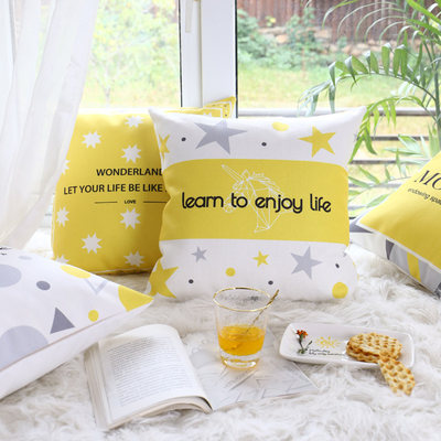 Nordic minimalist living room sofa pillow cushion back office waist cotton pillow pillow set square pillow