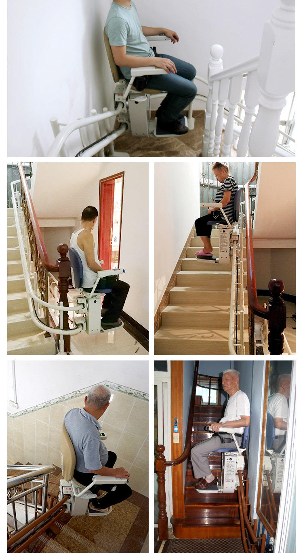 「M.K風尚館」 曲線座椅電梯居家用樓道簡易電梯老人上樓梯爬樓機別墅電動升降椅S3W8
