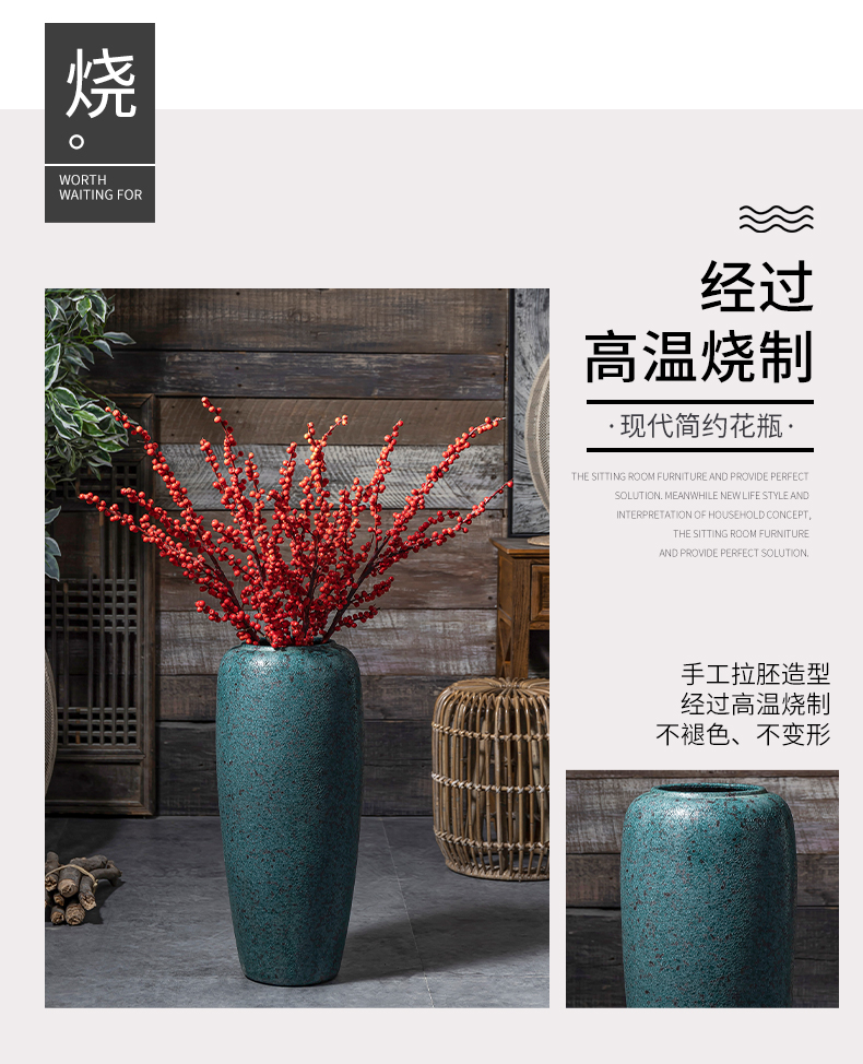 Restoring ancient ways of large ceramic vase do old furnishing articles dried flower arranging flowers sitting room adornment hotel courtyard coarse some ceramic pot