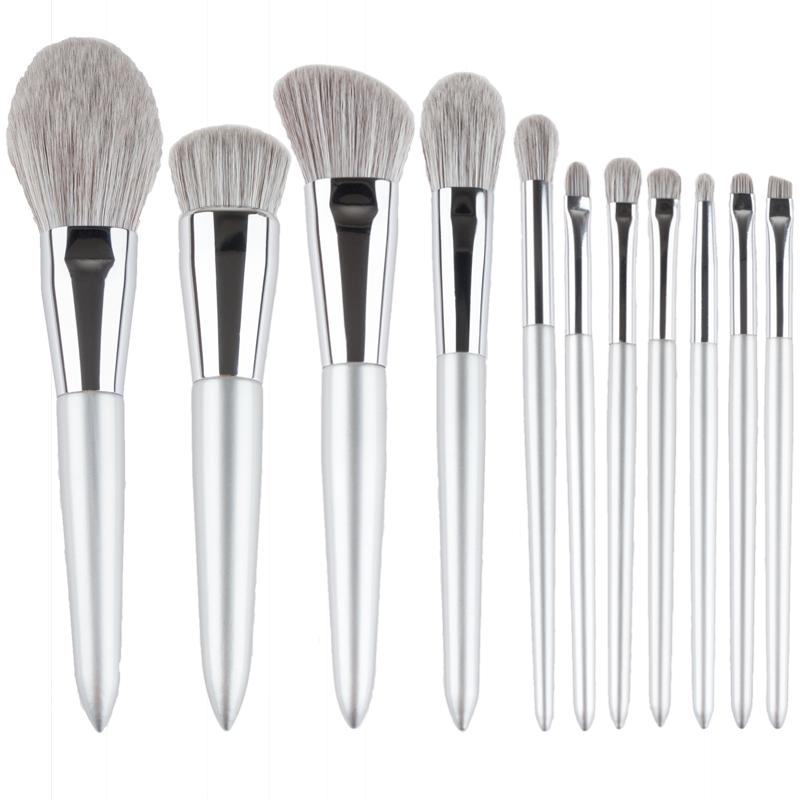 睿司专业12支化妆刷套装高颜值粉刷全套软毛超级柔软沧州平价刷子