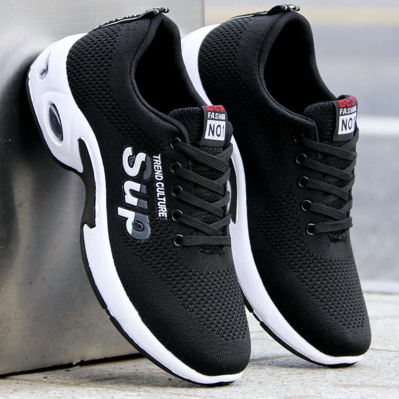 夏季飞织网布男鞋运动休闲板鞋2020新款跑步鞋青年透气网面男鞋潮