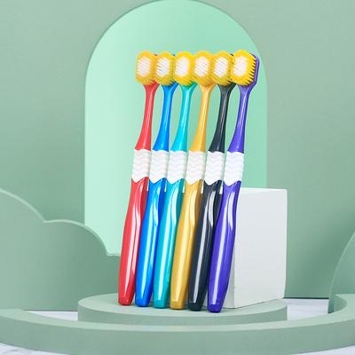 升级款日系65孔宽幅软毛牙刷6支特惠热销情侣家庭组合装可定制