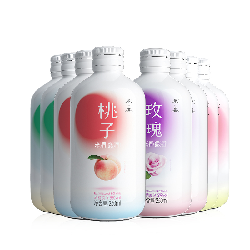 米客果味米酒网红糯米酒8瓶