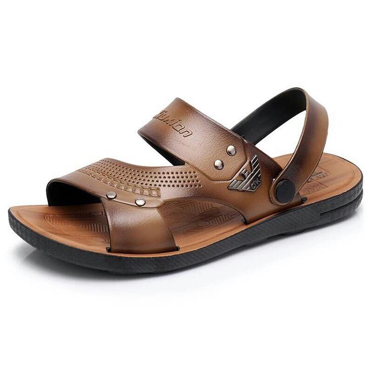 越南两用男潮流塑料凉鞋橡胶夏v两用凉鞋防滑耐磨沙滩鞋男士外穿