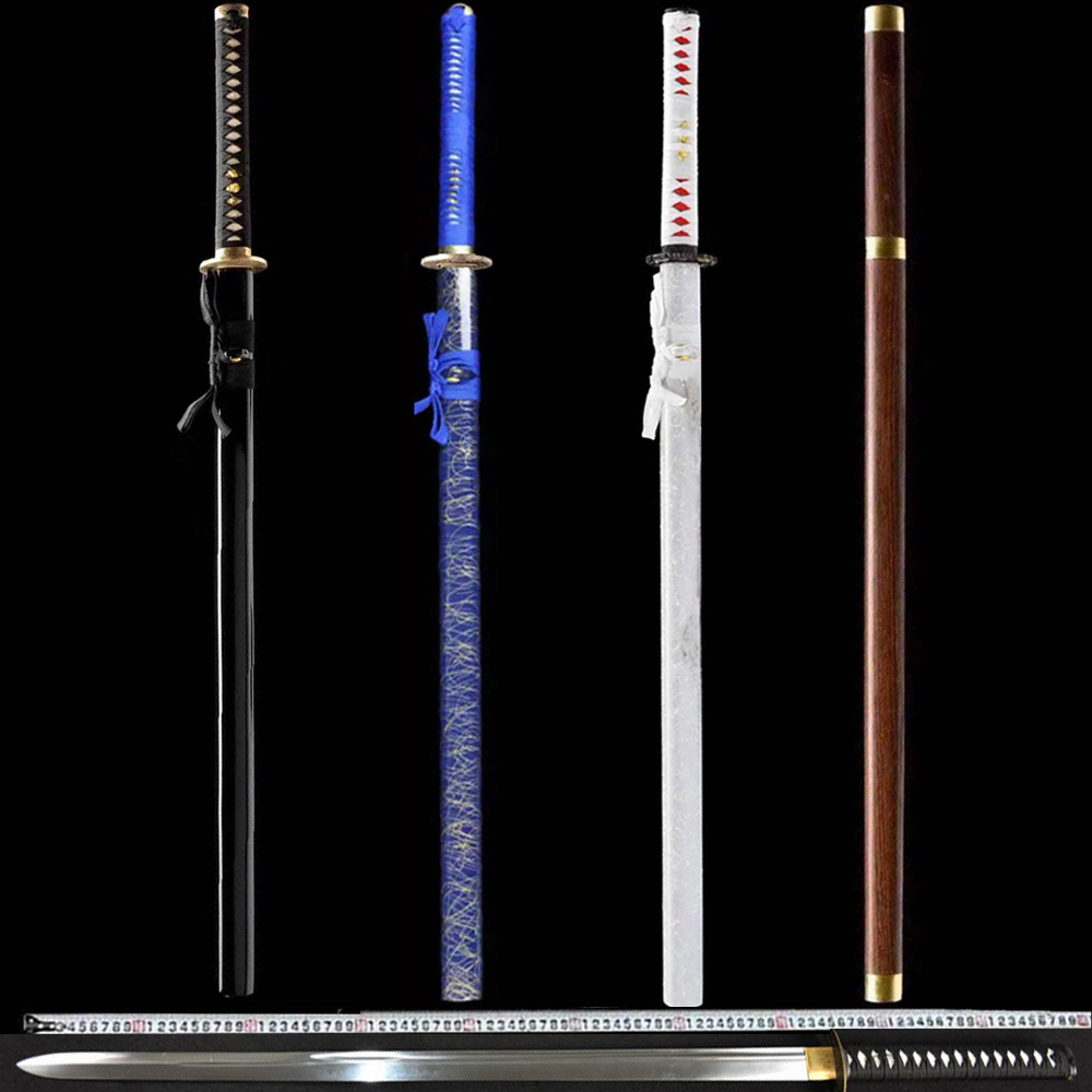 plain fittings tang dao longquan manganese steel long one town curtilage sword samurai sword Japanese single blade knife in the stick is not edged usually