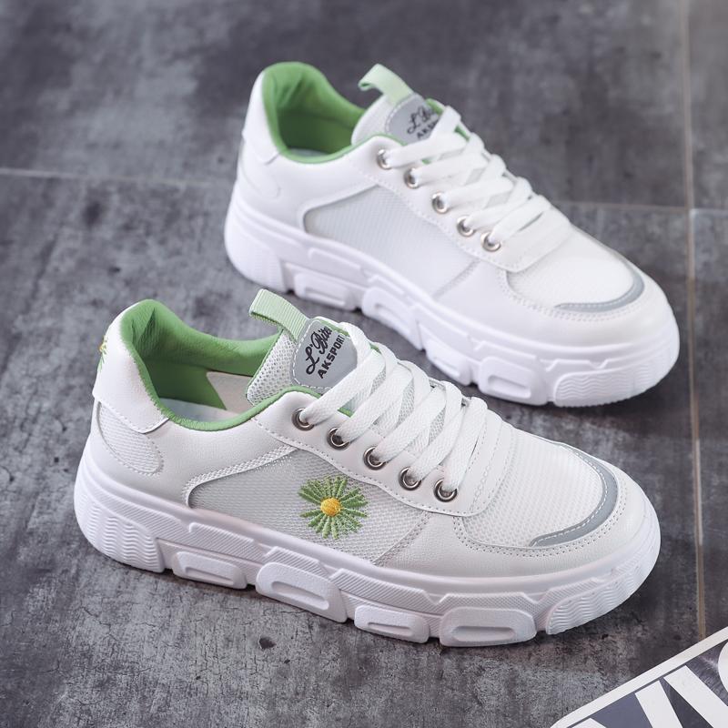 运动鞋女2020新款韩版小白鞋女春款学生百搭休闲鞋2020夏季网面潮