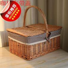 Nori basket meal hand 55 mention Japanese-style shopping rapeseed rattan household fashion blue weave shopping picnic portable bamboo basket