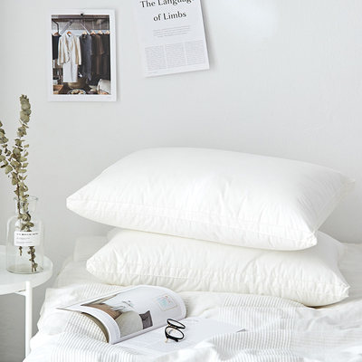 One pack of cotton soft pillow core Simple Nordic mid-to-high household pillow Pure cotton student dormitory pillow core 48x74