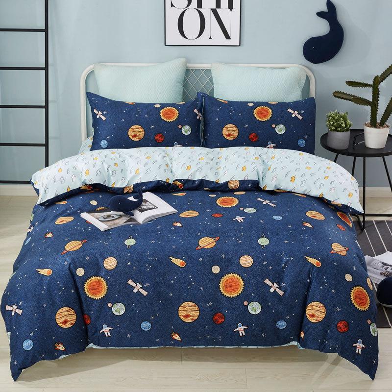 Youmian Yaju Cotton Cotton Bộ phim hoạt hình Bộ đồ giường Chăn Khăn trải giường Gối Ba mảnh một mảnh Bán hàng - Túi ngủ / Mat / Gối / Ded stuff