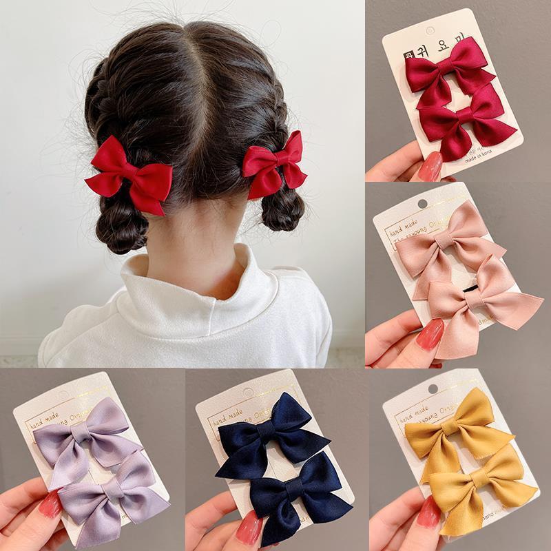 新款蝴蝶结发夹儿童女童宝宝公主侧边可爱发卡夹子发饰头饰女