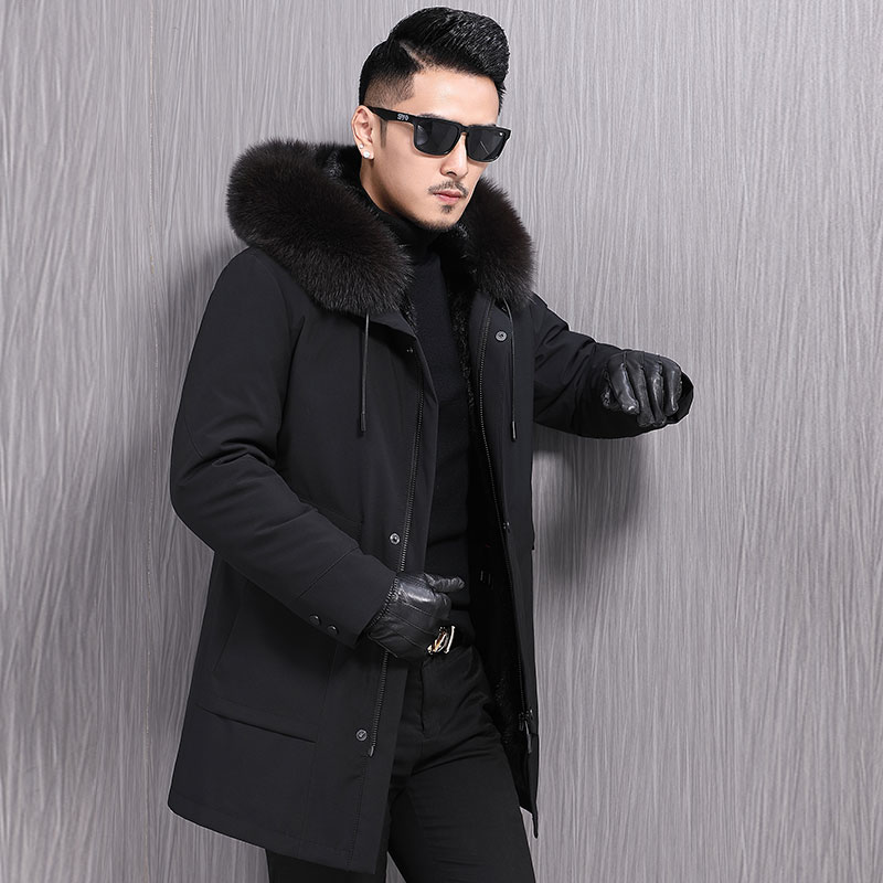 Pai overcomes male fur coat Fox fur collar otter inner bile leisure winter long fur coat