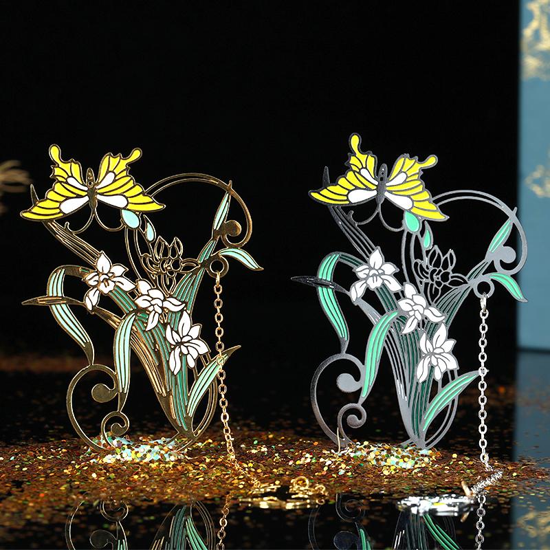 【十二花神】创意金属书签古典中国风刻字定制礼品精美古风礼物毕业纪念学生用文艺