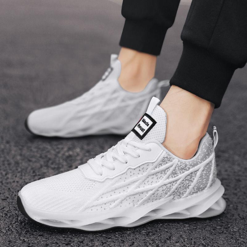 男鞋跑步鞋2021春夏季新款减震轻便跑鞋软底网面透气运动鞋男