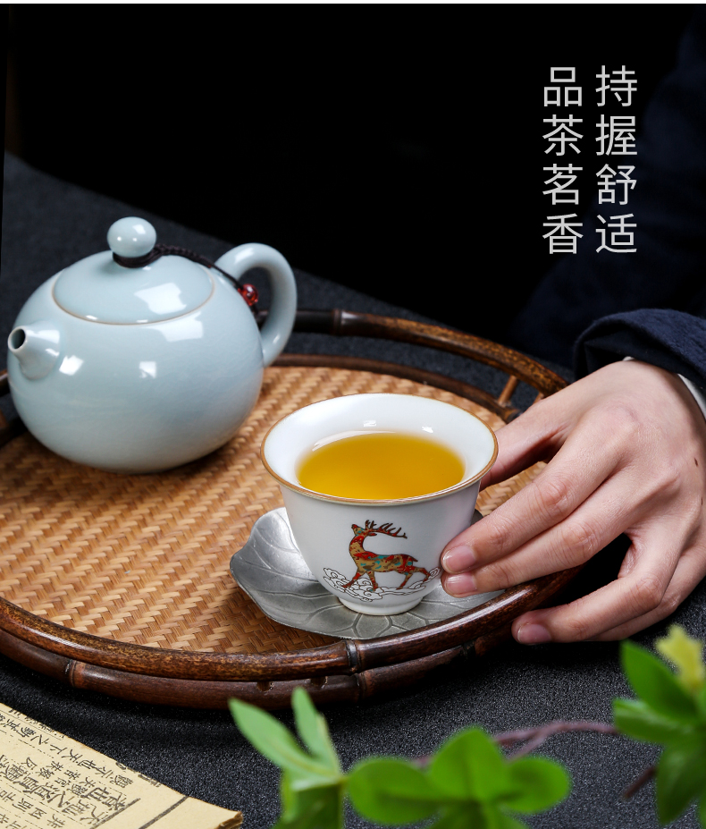 Your up which fullness of household ceramic cups master sample tea cup creative kung fu tea bowl is open for