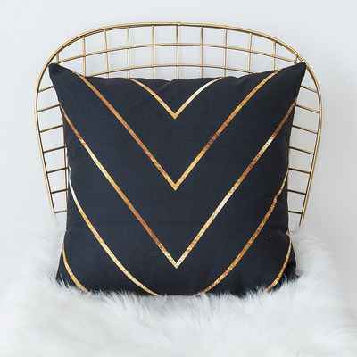 Nordic minimalist black gold ins pillowcase office nap pillow cushion cushion pillowcase classic gray car waist pillow