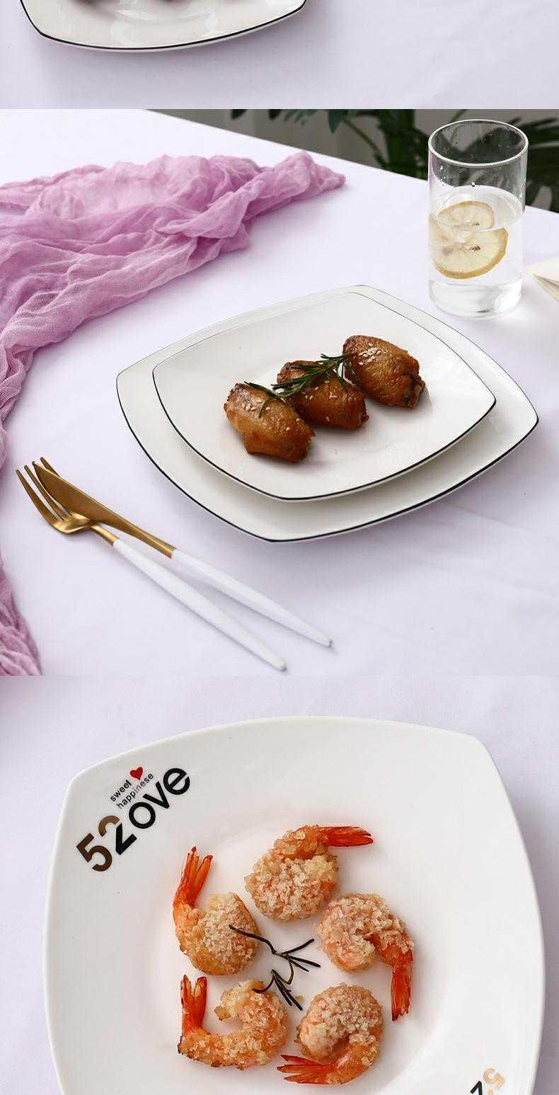 Ceramic tableware web celebrity creative dishes ins plate beefsteak tableware trill plate plate party with family