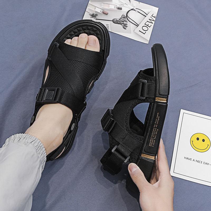 2020新款男士凉鞋韩版潮流个性夏沙滩室外休闲百搭防滑两用拖鞋1