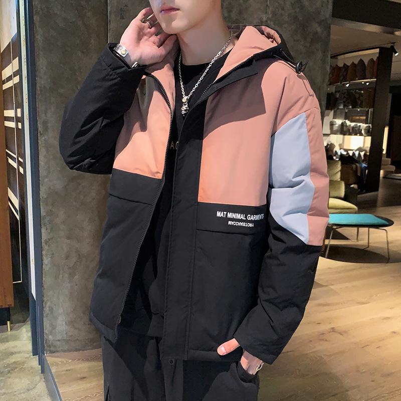 棉衣男士冬季外套2019新款韩版潮流短款加厚羽绒棉服工装棉袄潮牌