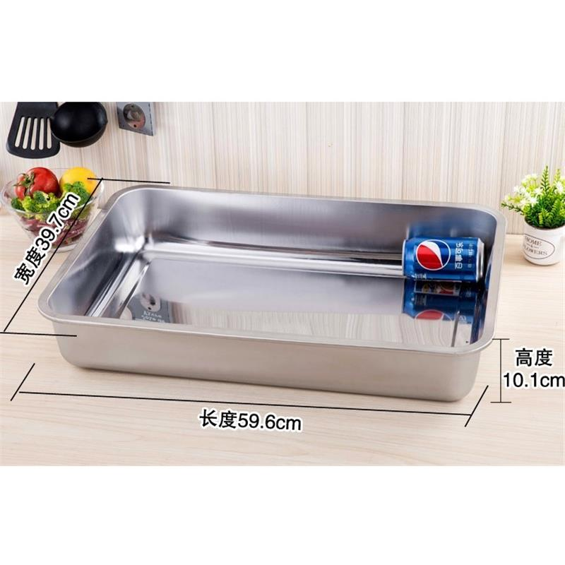 With thick stainless steel barbecue grilled fish non - stick pot induction cooker electric TaoLu amphibious rectangular surroundings while