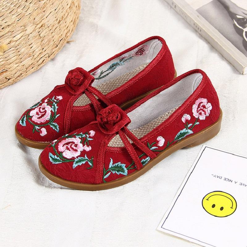 中国风汉服鞋妈妈鞋创意款休闲鞋老北京布鞋