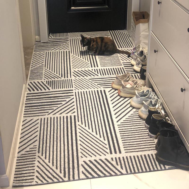 轻奢北欧进门口玄关地垫入户门脚垫子丝圈地毯家用防滑可裁剪简约