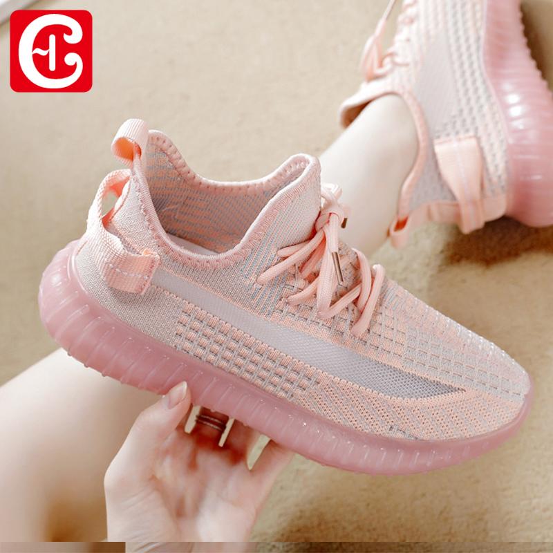 2020女椰子鞋跑步鞋健身鞋夏季新款運動鞋女鞋輕便軟底小白鞋百搭