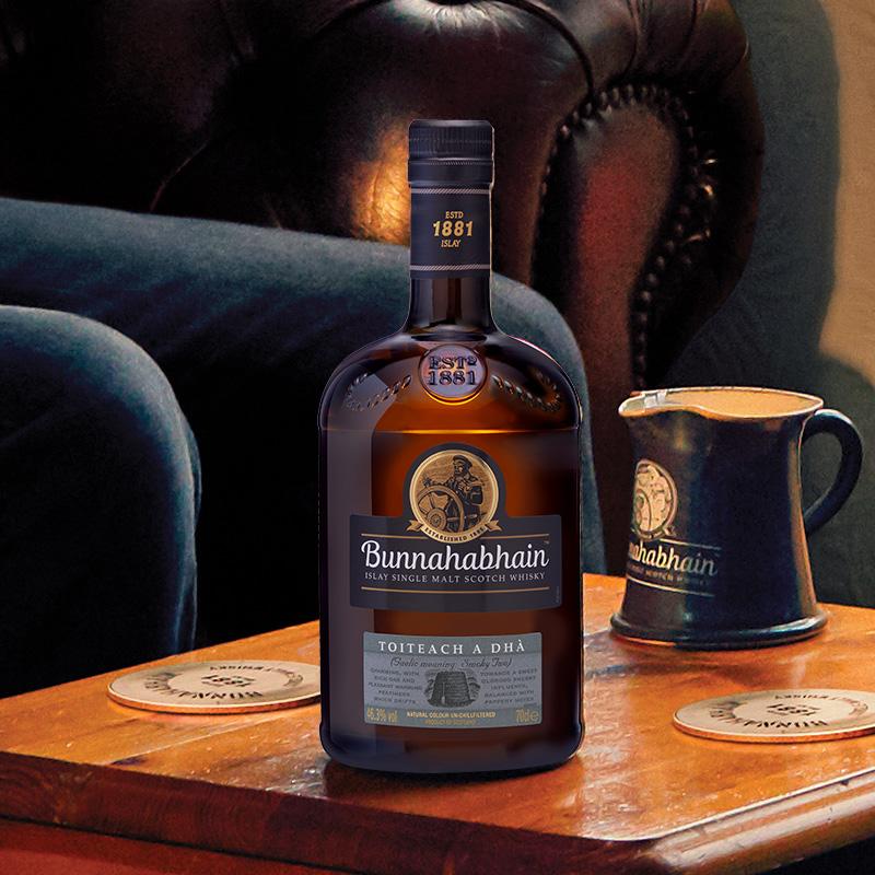 双11预售 Bunnahabhain 布纳哈本 泥煤续曲单一麦芽苏格兰威士忌(新水雾黑烟)700ml ¥439包邮(需50元定金)