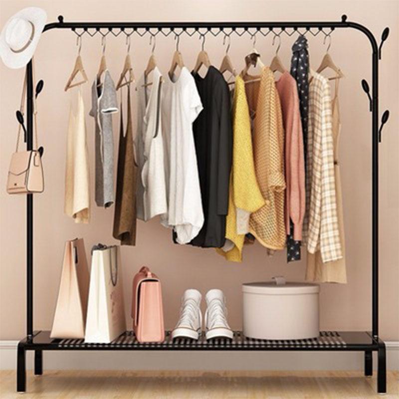 室内落地衣架简易单杆式阳台晾衣凉晒架