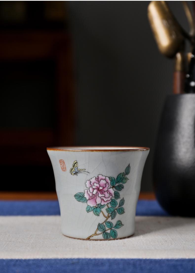 Shot incarnate the azure your up hand - made bamboo kung fu tea set individual sample tea cup cup of jingdezhen ceramics master cup single CPU