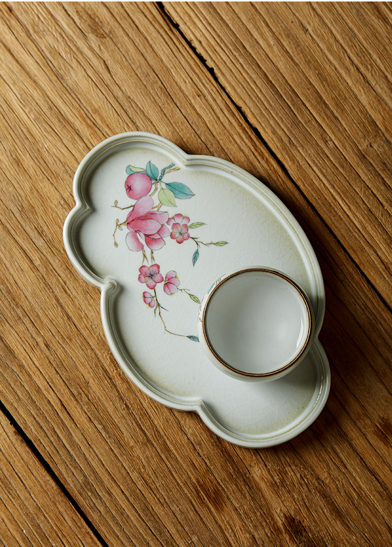 Shot incarnate your up hand - made yulan tea tray was kung fu tea saucer jingdezhen ceramics parts household pot dry mercifully machine