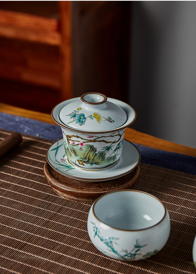 Shot incarnate your up hand - made by one of only three tureen jingdezhen ceramic cups kung fu tea tea bowl