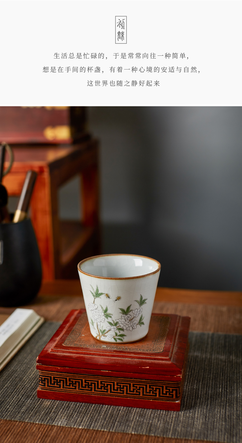 Shot incarnate your up hand - made straight jingdezhen ceramic cups kung fu tea set open piece of sample tea cup masters cup single CPU