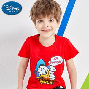迪士尼儿童t恤2021新款男童短袖 胖童装加肥加中大童纯棉女童夏季,领取淘宝优惠券90元