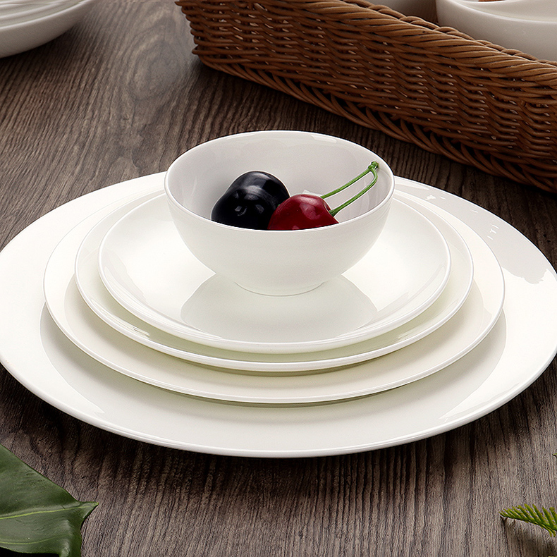 Ipads bowls disc household tableware suit item dishes individual freedom and tie - in combination of pure white ceramic bowl