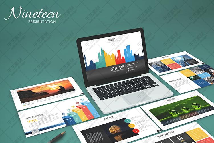 ppt图形素材商务模板可视化数据3d图表组织架构简约精选插图(33)