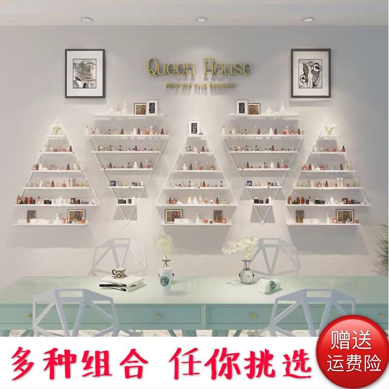 in móng tay kệ treo tường màu đỏ hiển thị giá sơn móng tay nhựa mỹ phẩm cửa hàng trưng bày kệ tường kệ - Kệ / Tủ trưng bày