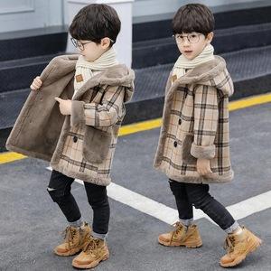 男童呢子大衣毛呢加绒加厚外套冬装2020新款洋气儿童装秋冬装男孩