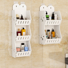 Toilet rack bathroom toilet toilet storage rack washstand wall-mounted punch-free wall finishing rack