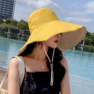 韩版遮阳网红款渔夫帽女大帽檐夏季