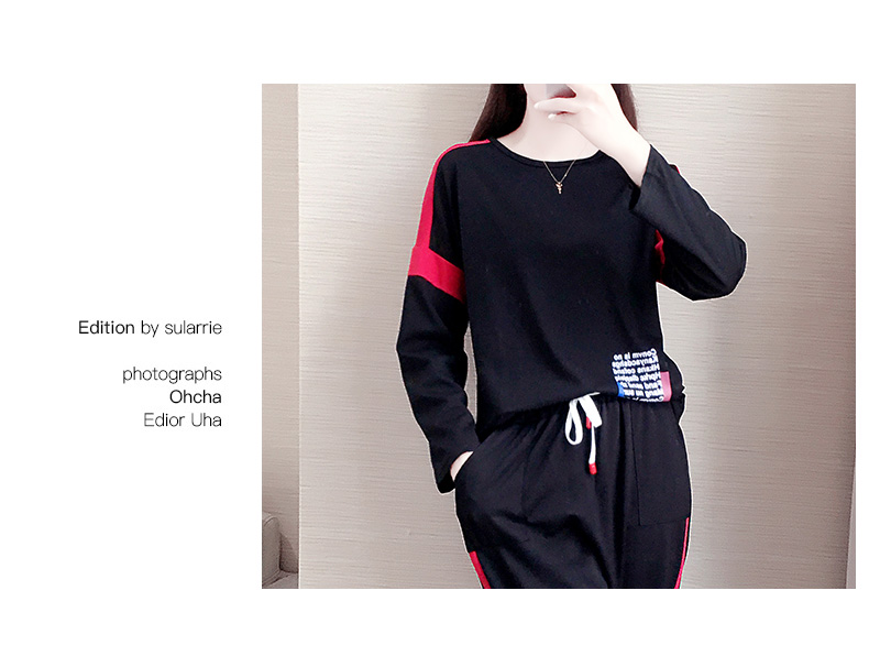 Casual sports suit women's spring/autumn 2020 new Korean version of loose-sleeved foreign fashion two-piece set tide 9 Online shopping Bangladesh